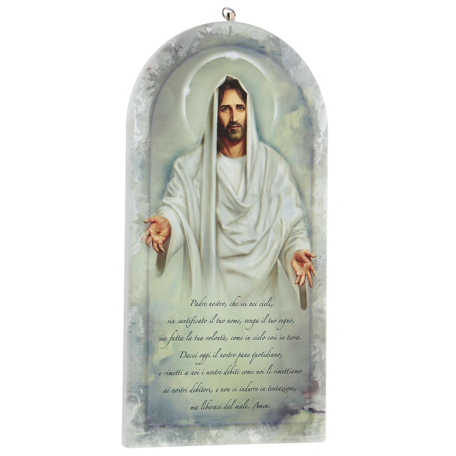 Icono Jesús y oración Padre Nuestro 20 cm 3