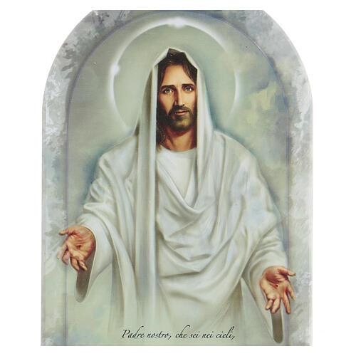 Icône Jésus et prière Notre Père 20 cm 2