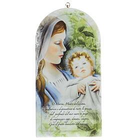 Icono oración Virgen con estampa forex s1