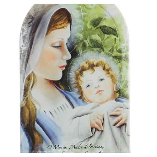 Icono oración Virgen con estampa forex 2