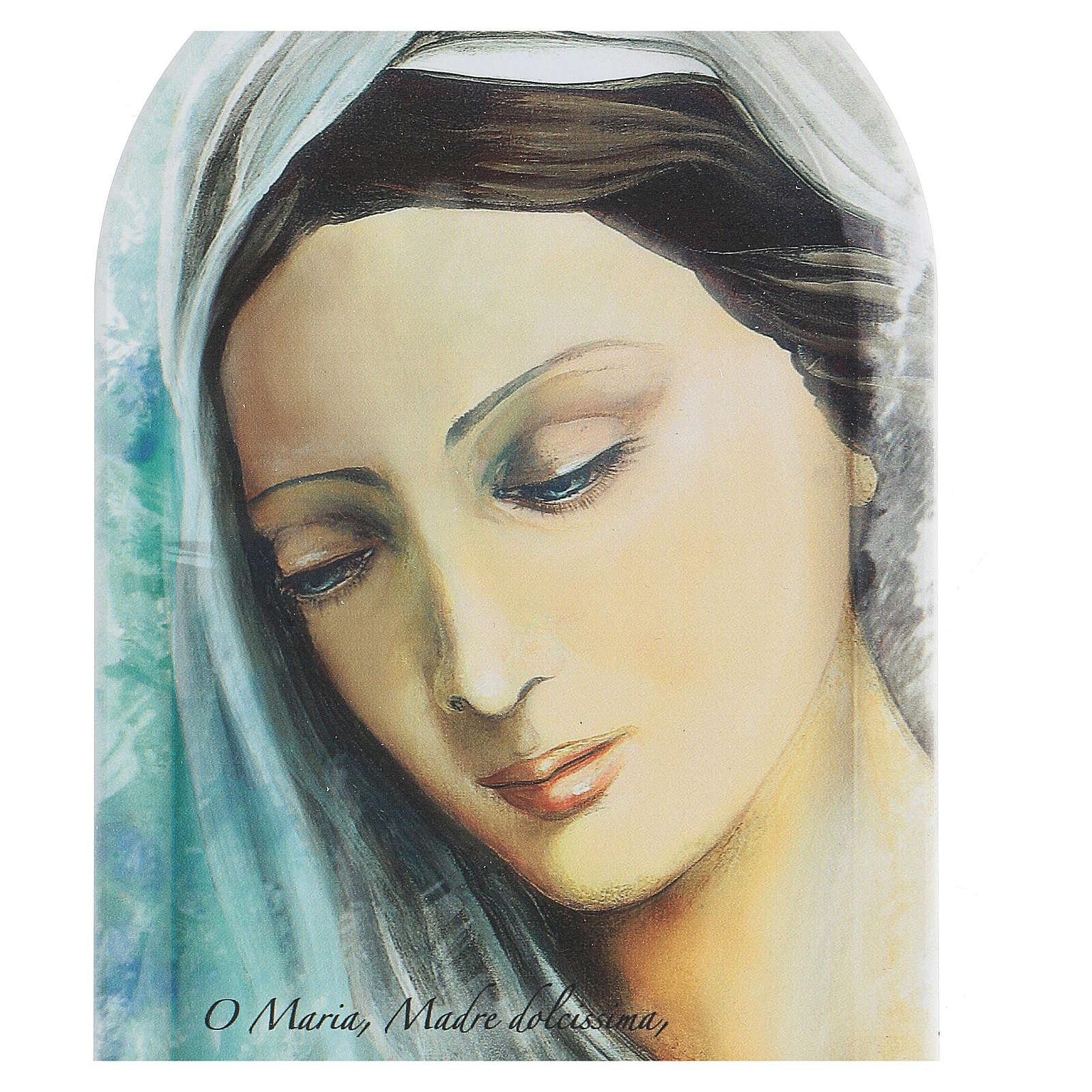 Icône visage Vierge et prière 3