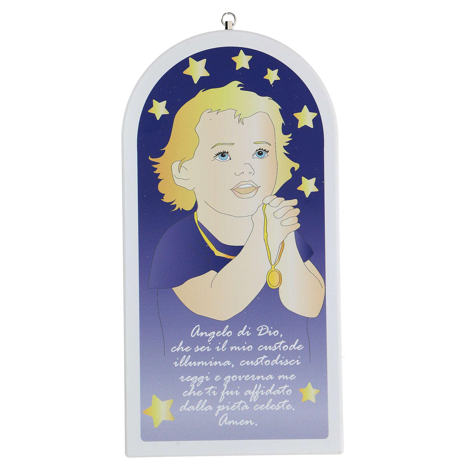 Icône Ange de Dieu enfant en prière 3