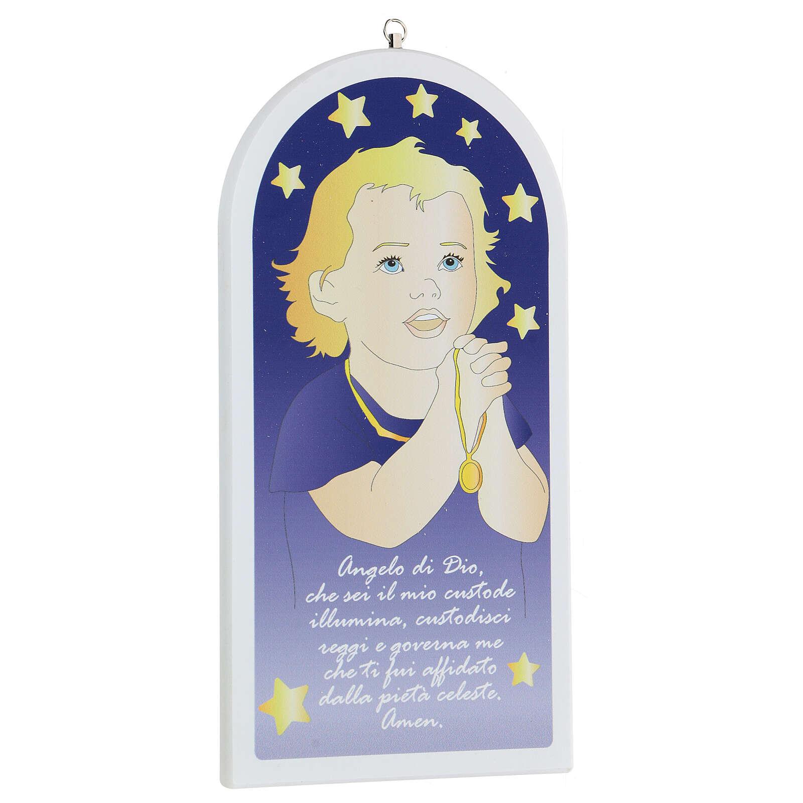 Icona Angelo di Dio bimbo in preghiera  3