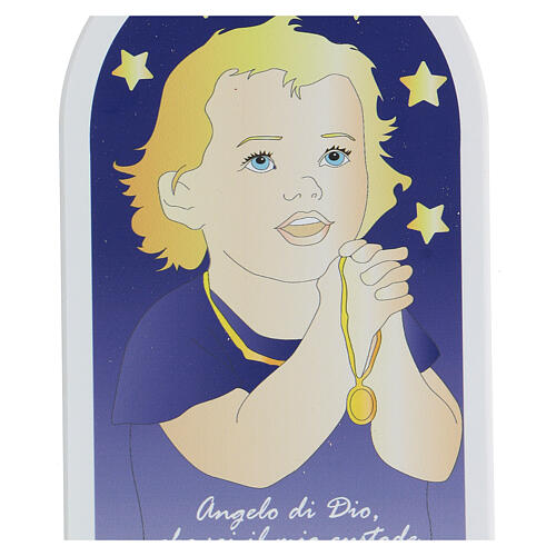 Icona Angelo di Dio bimbo in preghiera  2