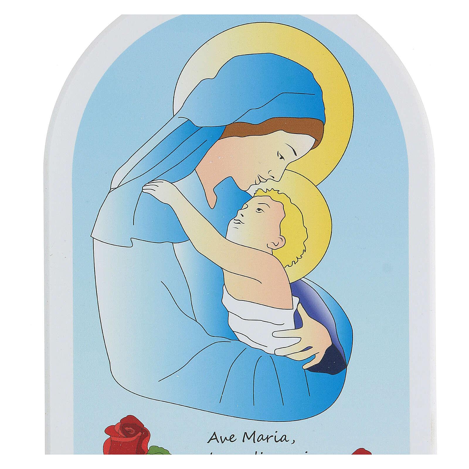 Icono cartoon Virgen y niño 3