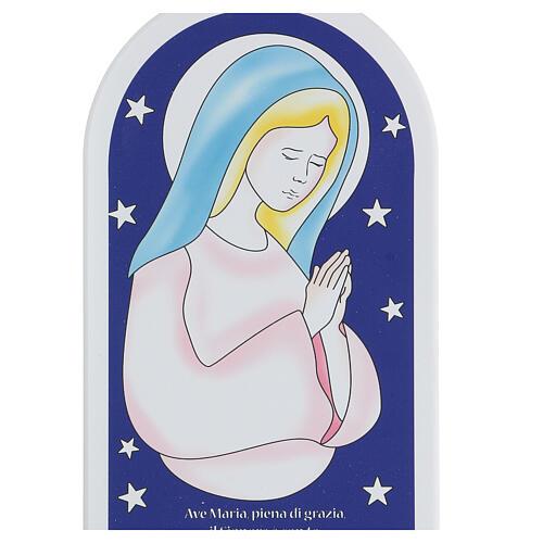 Icône Je Vous salue Marie avec étoiles 25 cm 2