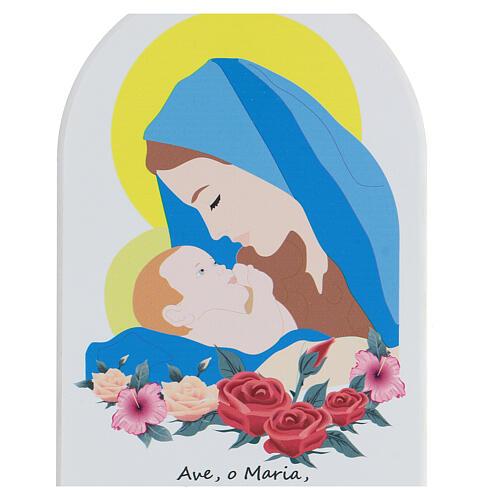 Icono Ave María con oración estilo cartoon 2