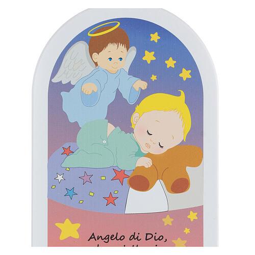 Icono Ángel de Dios estrellas 25 cm 2