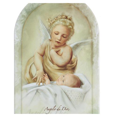 Icono oración Ángel de la Guarda estampa 25 cm 2