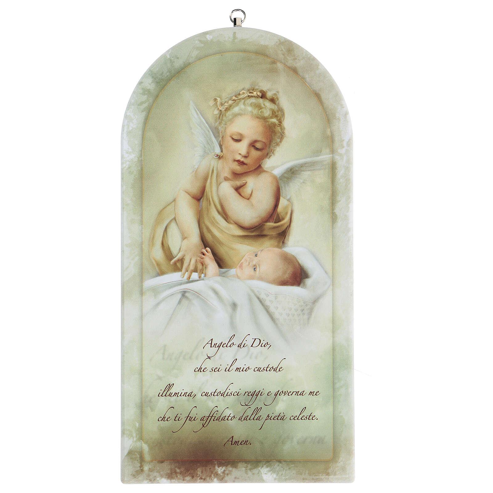 Icona preghiera Angelo Custode stampa 25 cm 3