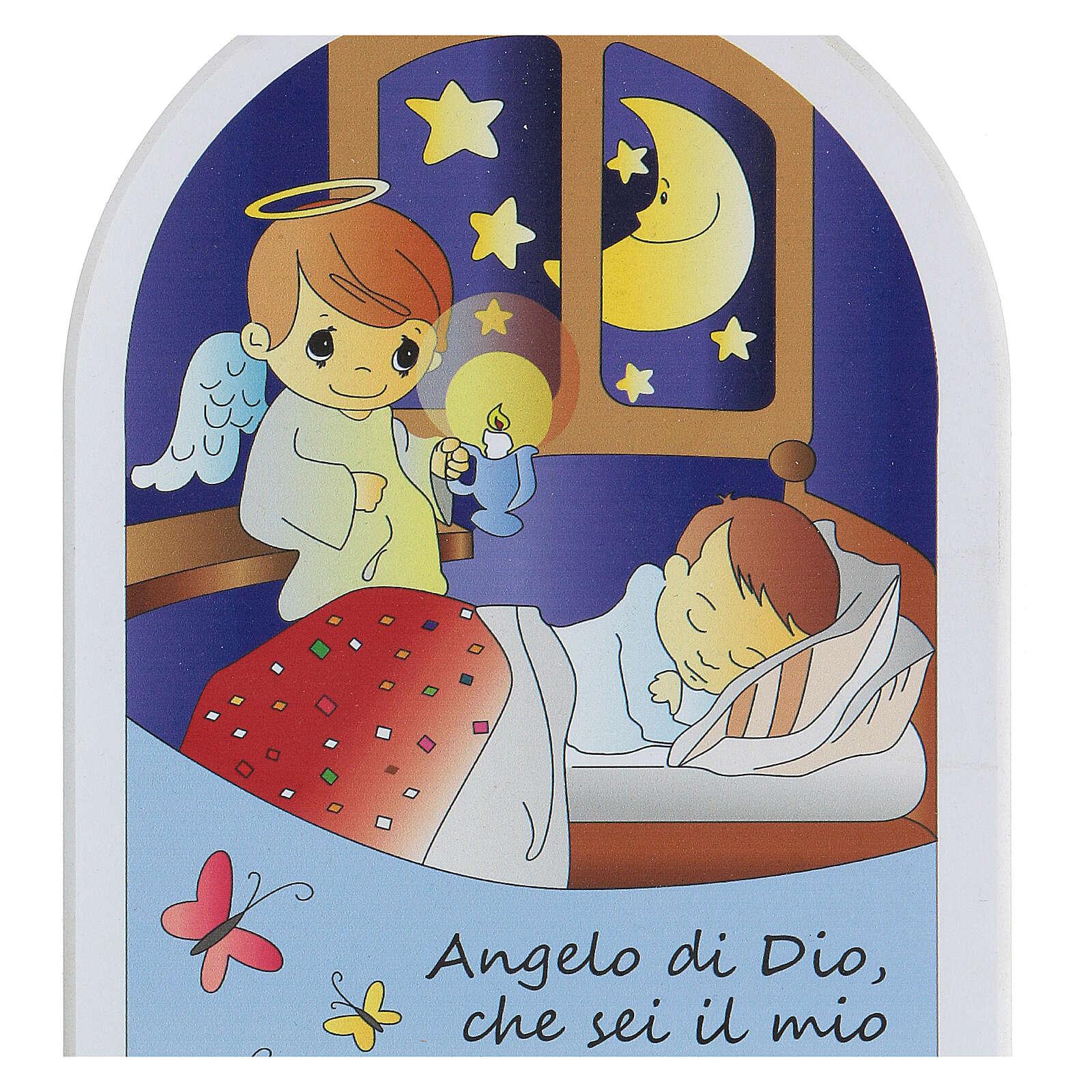 Icona cartoon orsetto Angelo di Dio 3