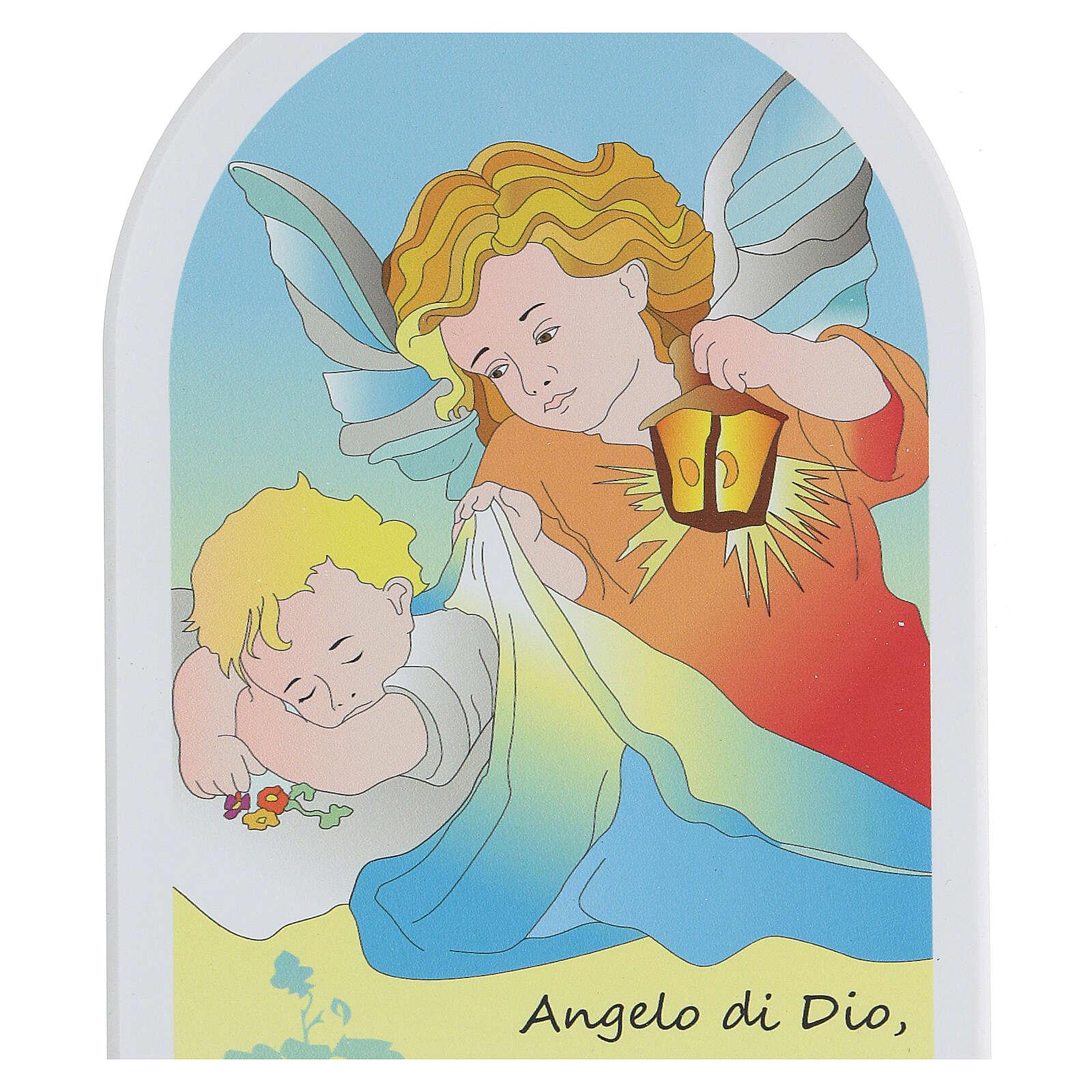 Oración Ángel de Dios con ángel y linterna 3