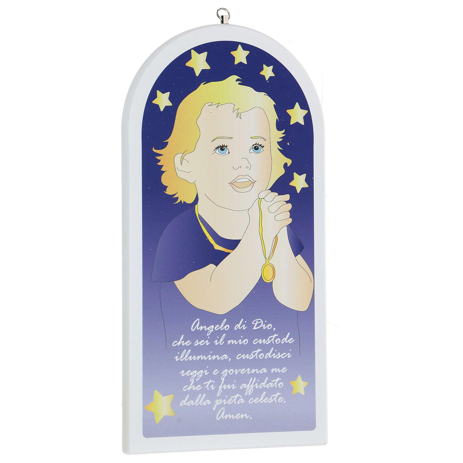 Angelo di Dio bimbo in preghiera 30 cm 3