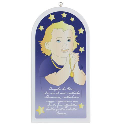 Angelo di Dio bimbo in preghiera 30 cm 1