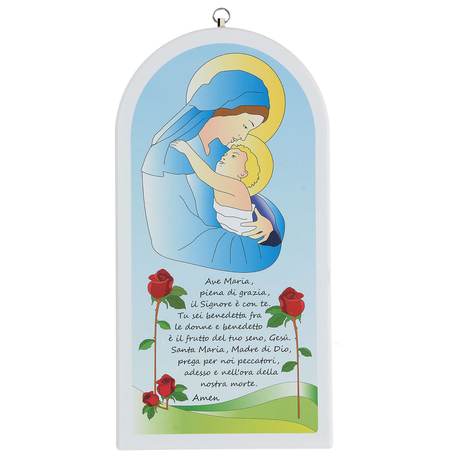 Ave Maria con Madonna e bambino 30 cm 3