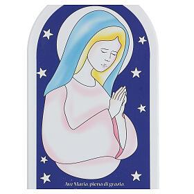 Icône étoiles et Je Vous salue Marie 30 cm s2
