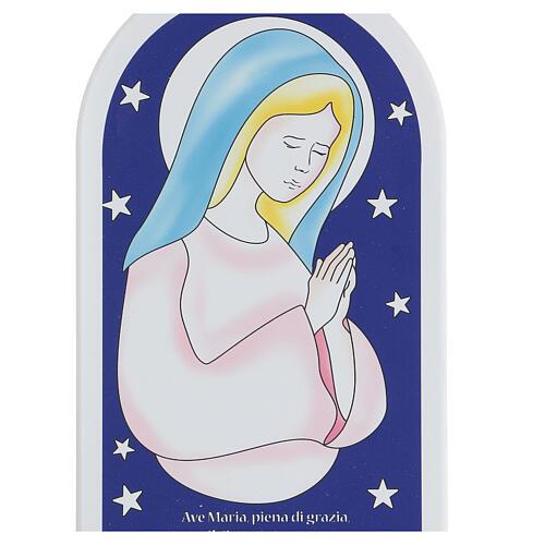 Icône étoiles et Je Vous salue Marie 30 cm 2
