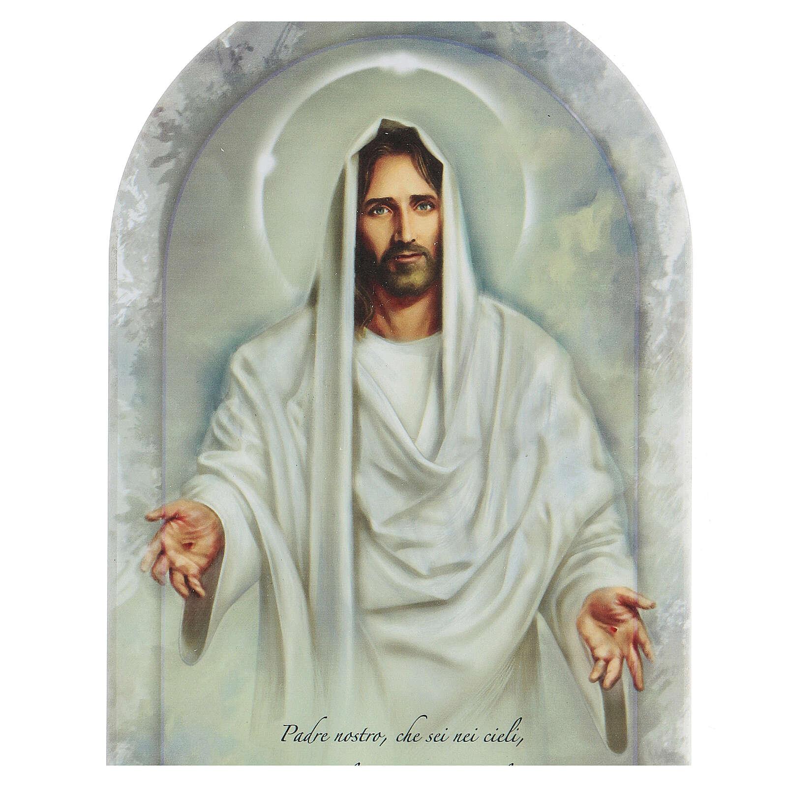 Jesús y Padre Nuestro icono 30 cm 3