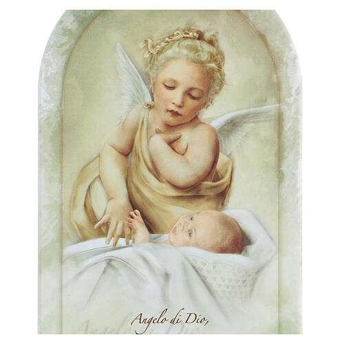 Icon printed in forex with prayer and Guardian Angel 2