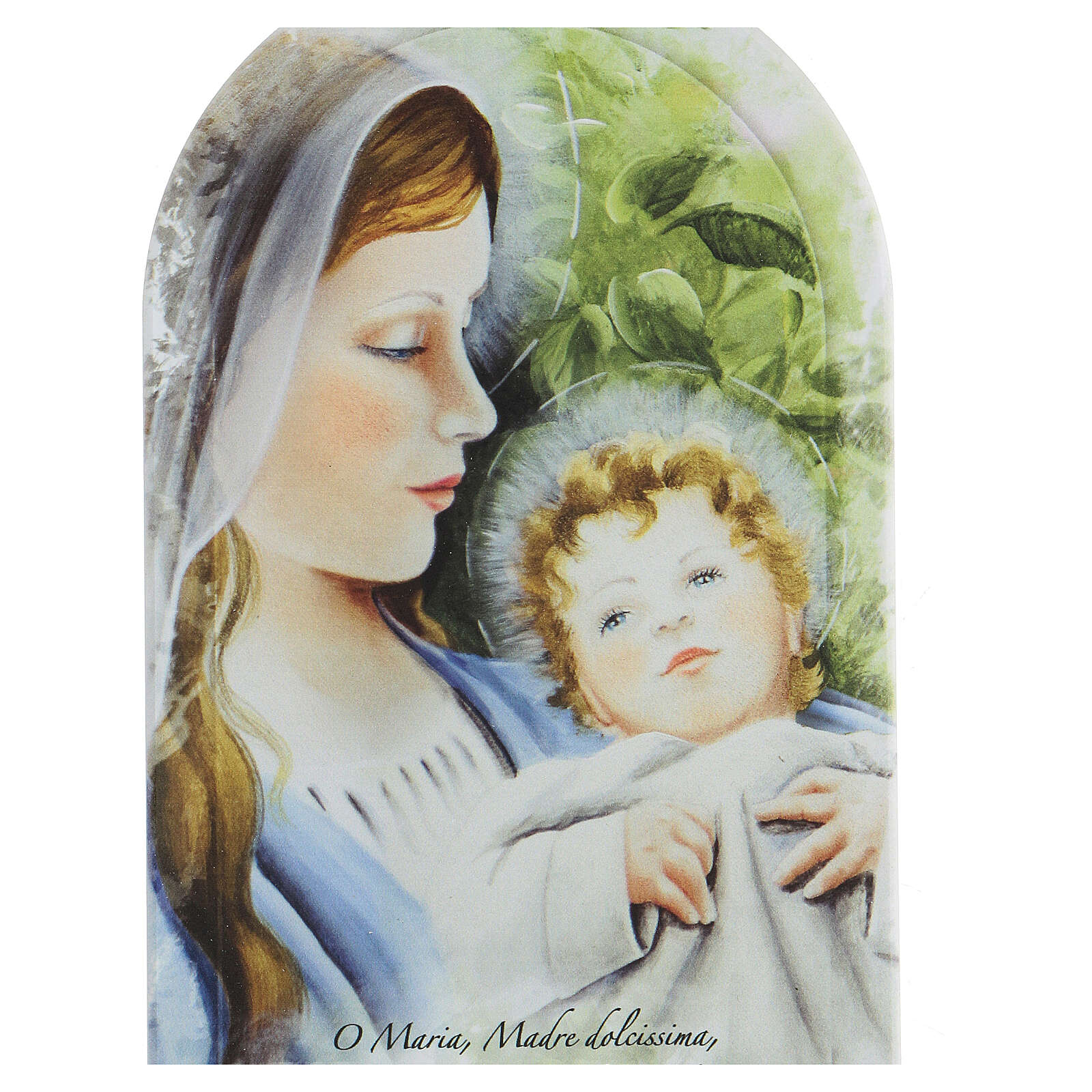 Icône prière Sainte Vierge et fond feuilles forex 3