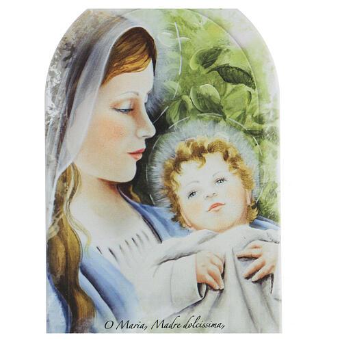 Icône prière Sainte Vierge et fond feuilles forex 2