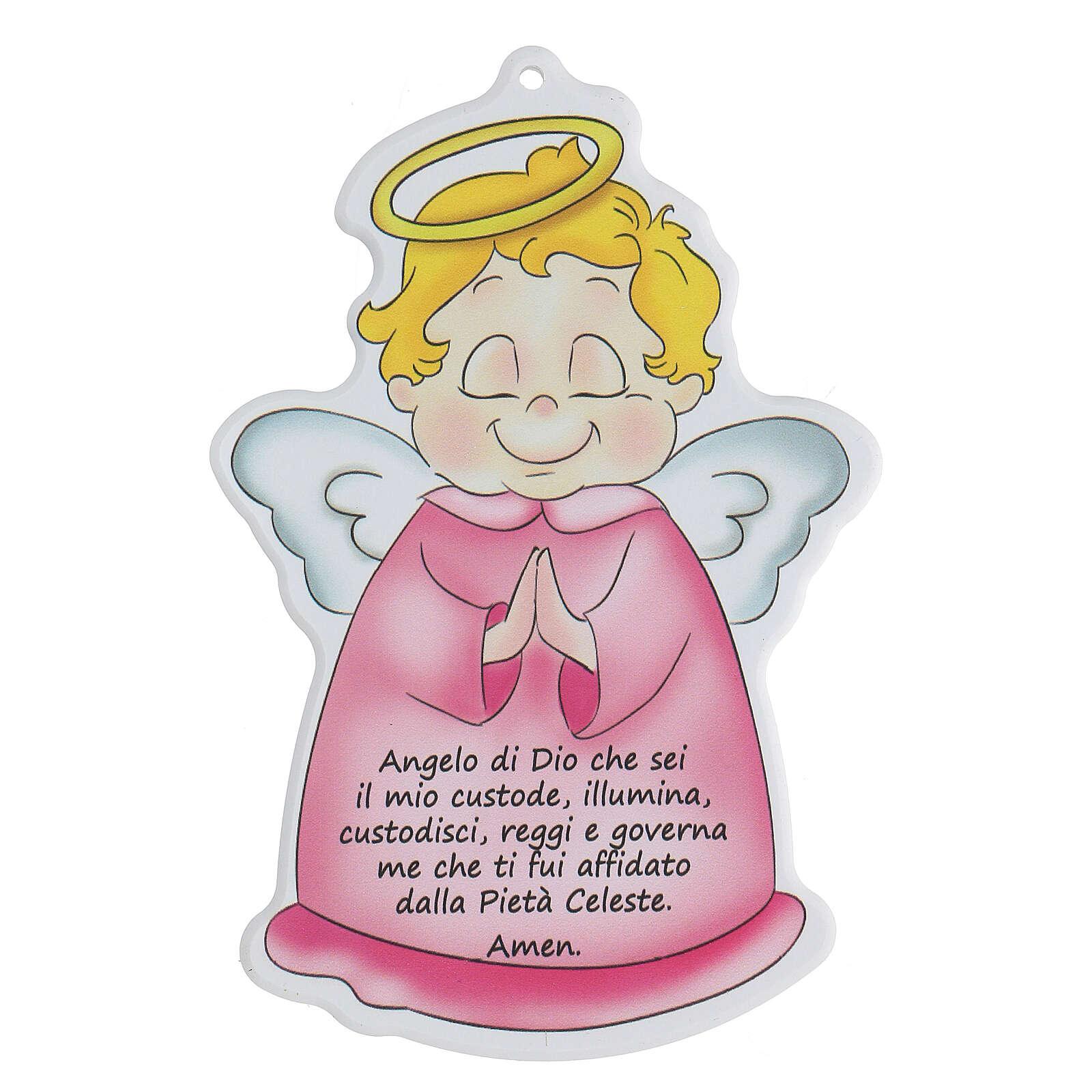 Icono perfilado ángel oración niña 3