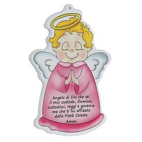 Icono perfilado ángel oración niña s3