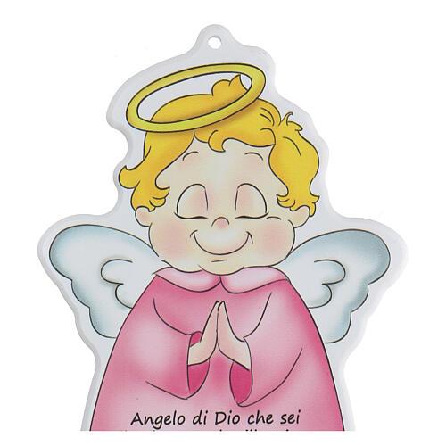 Icono perfilado ángel oración niña 2