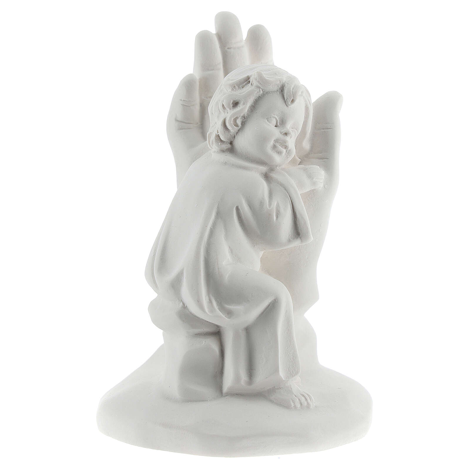 Resin hand with little boy 10 cm 3