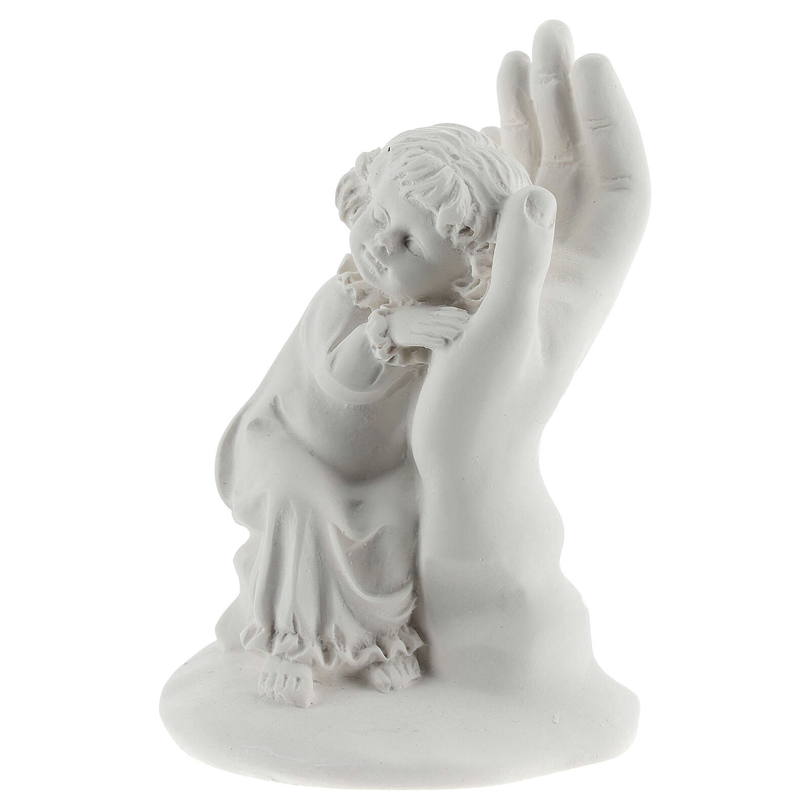 Resin hand with little girl 10 cm 3