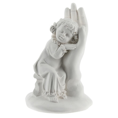 Resin hand with little girl 10 cm 1