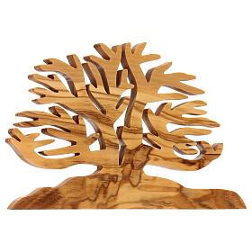 Árbol de la vida decoración madera olivo 15x10x1 cm s2