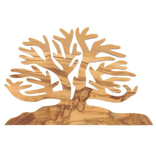 Árbol de la vida decoración madera olivo 15x10x1 cm 3