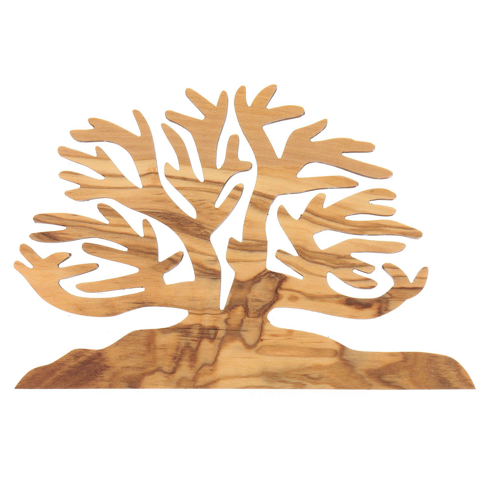 Albero della vita decorazione legno ulivo 15x10x1 cm 3
