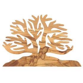 Albero della vita decorazione legno ulivo 15x10x1 cm s3