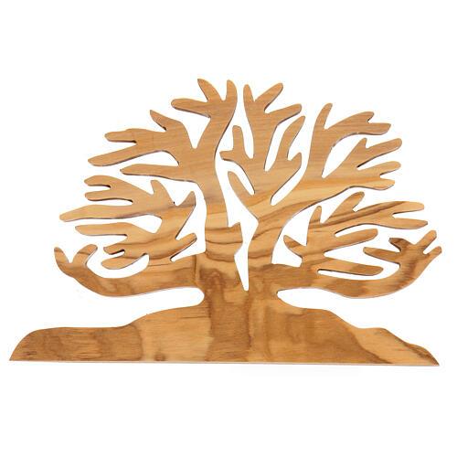 Albero della vita decorazione legno ulivo 15x10x1 cm 1