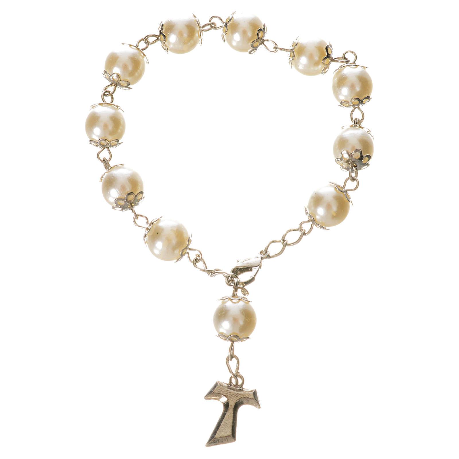 Ten pearlette  beads rosary bracelet 4