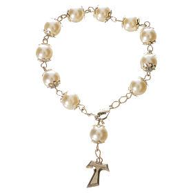 Ten pearlette  beads rosary bracelet s1