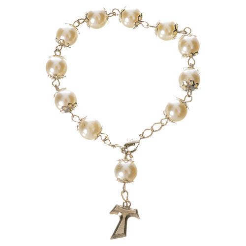 Ten pearlette  beads rosary bracelet 1