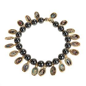 Bracelets avec images en métal: Bracelet, images, hématite