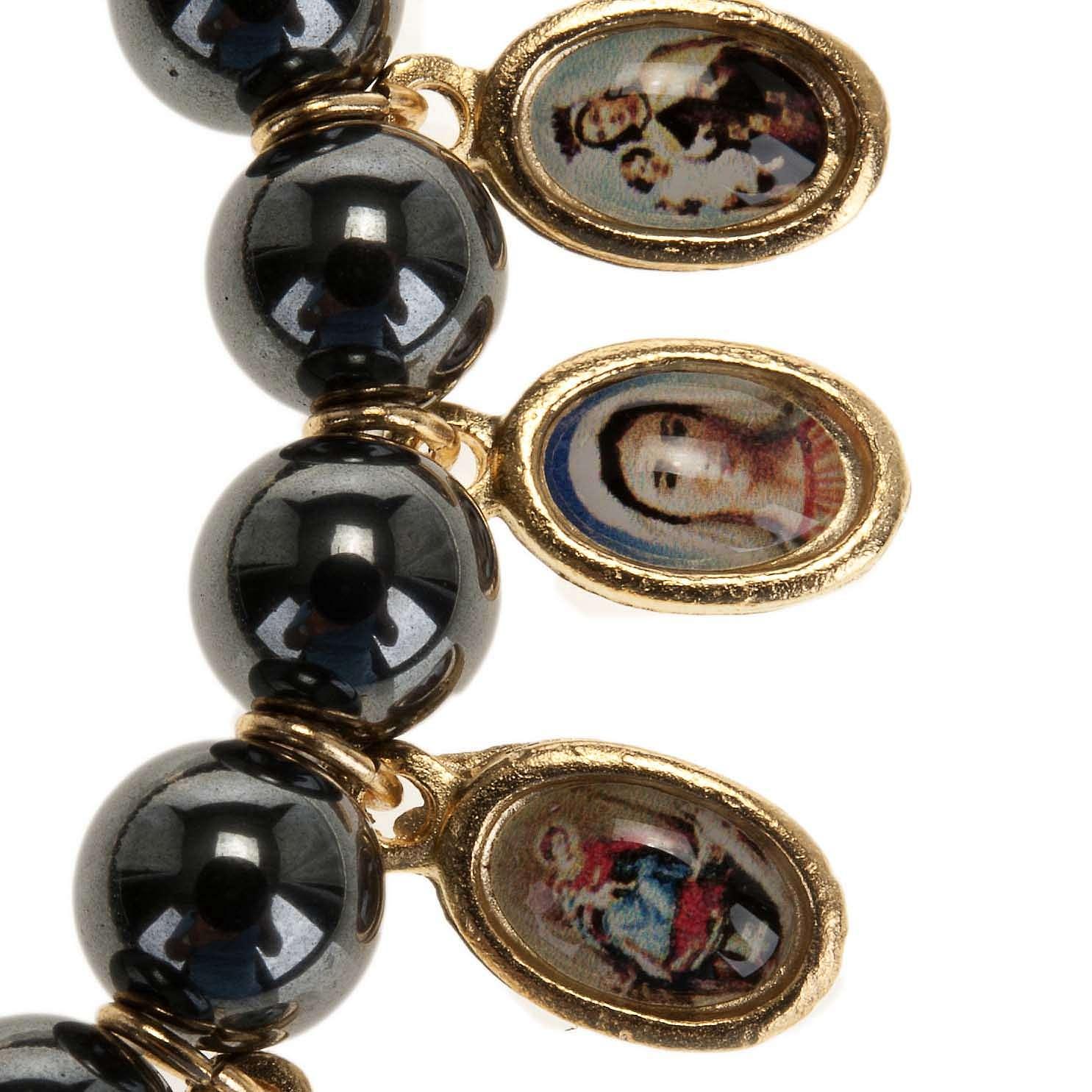 Multi-image hematite bracelet 4