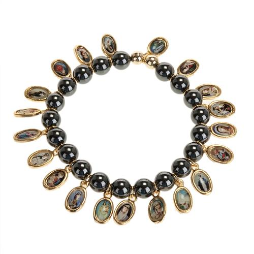Multi-image hematite bracelet 1