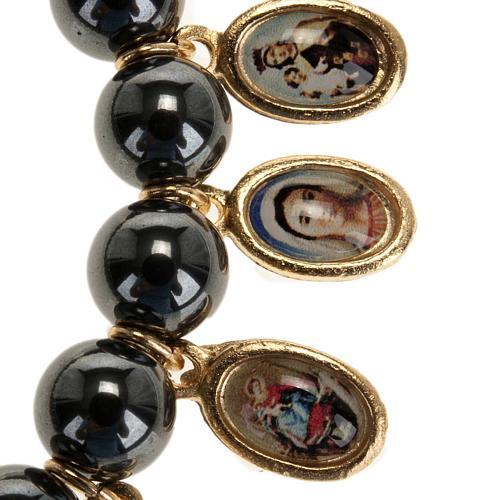 Multi-image hematite bracelet 2