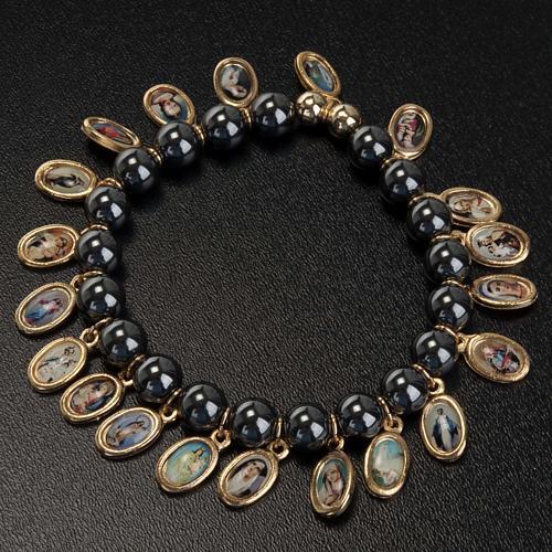 Multi-image hematite bracelet 3