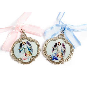 Medalhões e Medalhas para Berço: Medalhão anjo bebê