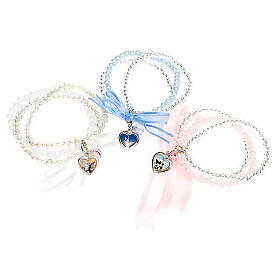 Heart and angels bracelet for babies s1