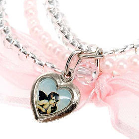 Heart and angels bracelet for babies s2