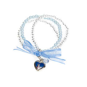 Heart and angels bracelet for babies s6