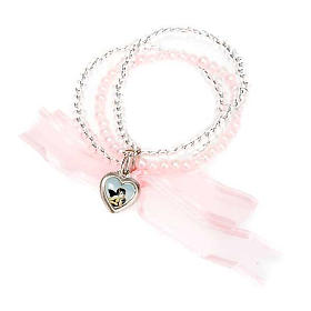 Heart and angels bracelet for babies s7