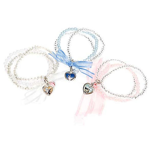 Heart and angels bracelet for babies 1